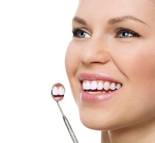 White fillings used to repair teeth